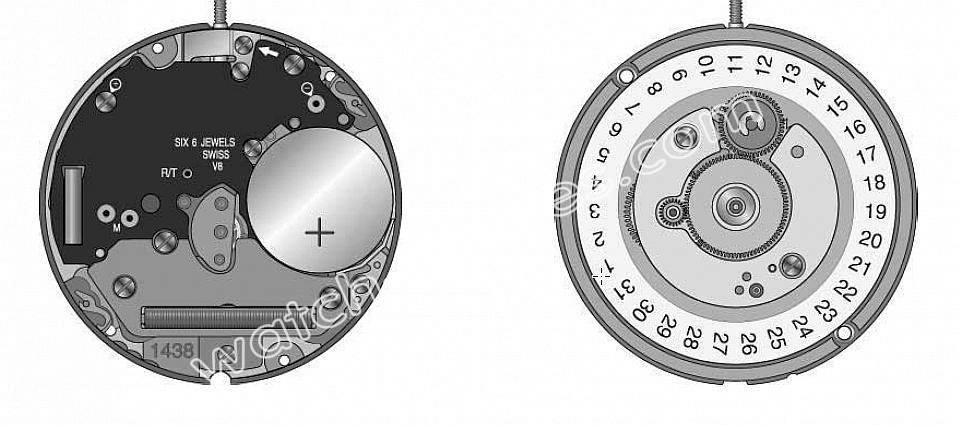 Omega 1438 watch movements