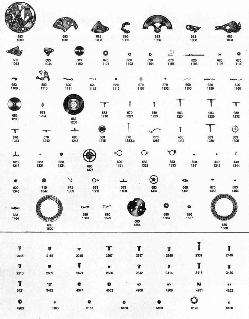Omega 685 watch parts