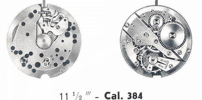 Felsa 384 watch movements