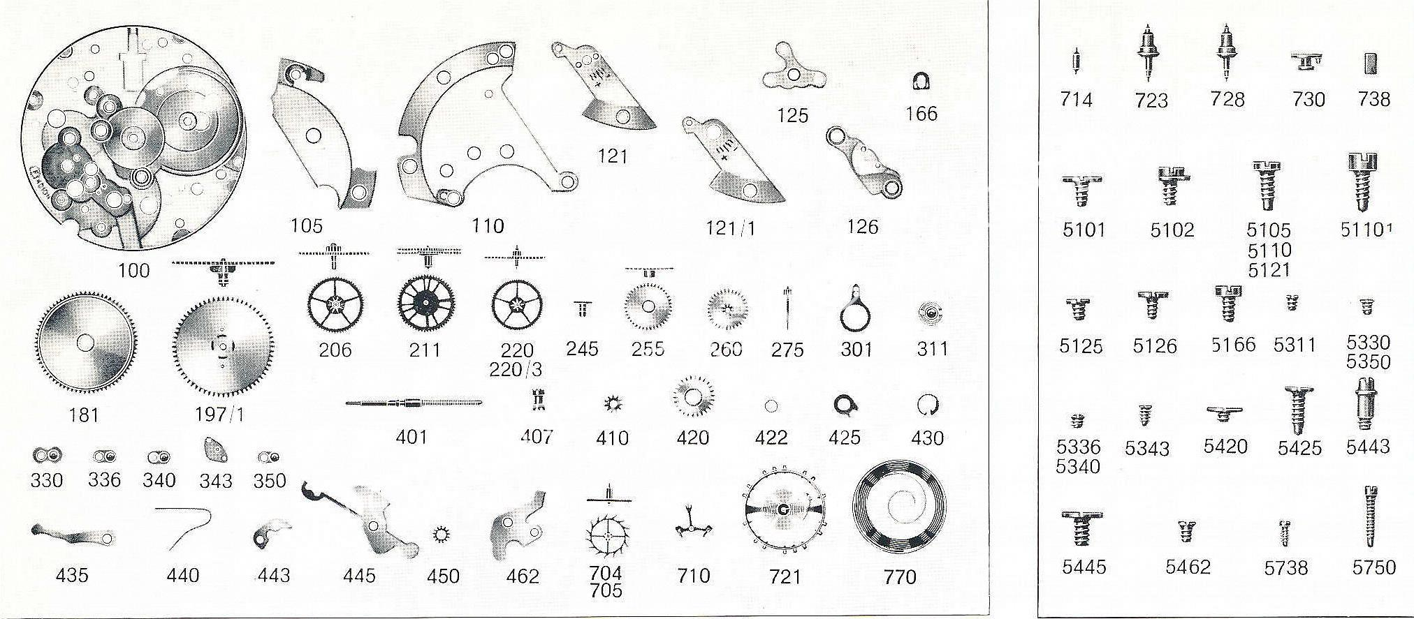 Felsa 4010 N watch spare parts