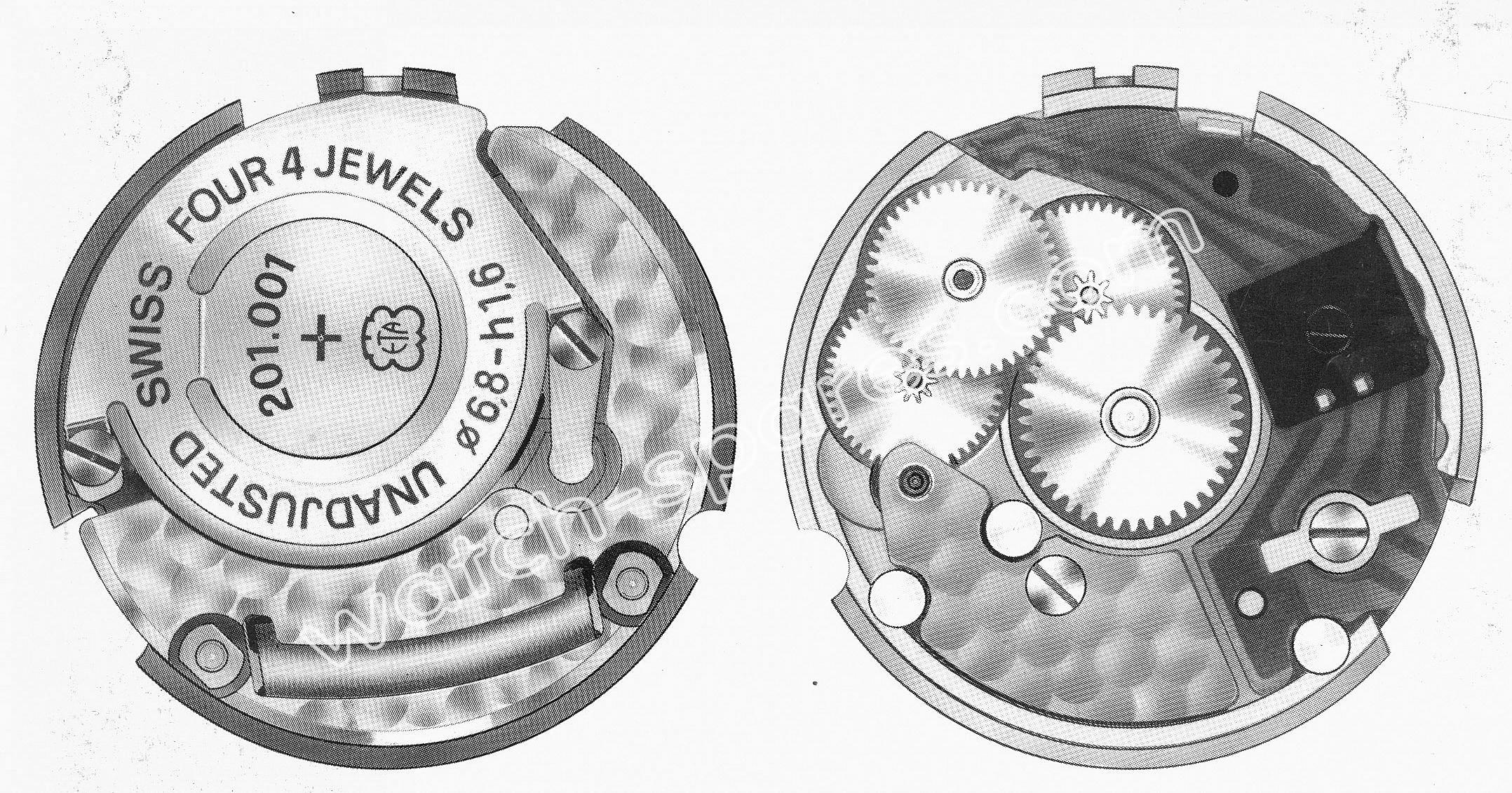 ETA 201.001 watch movements