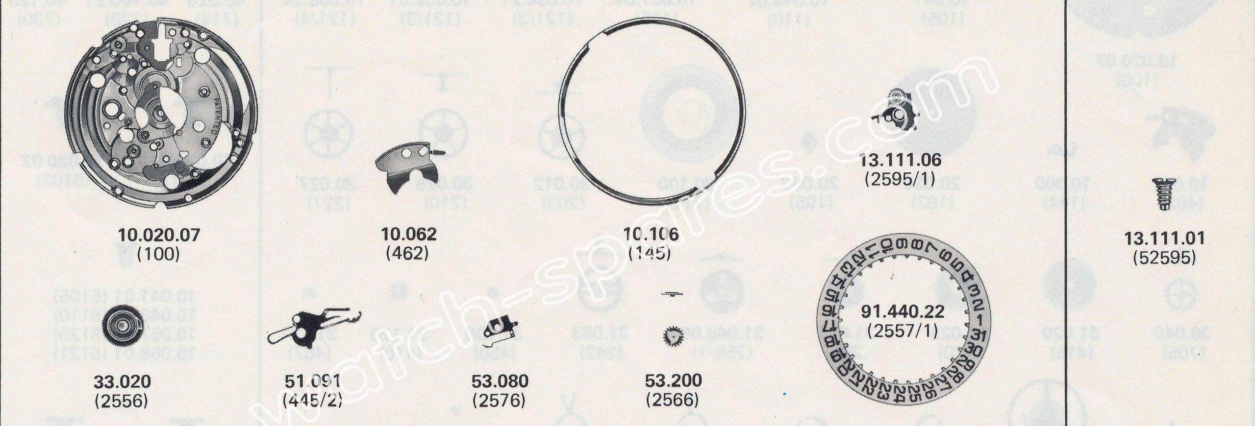 ETA 2804.1 watch date spare parts