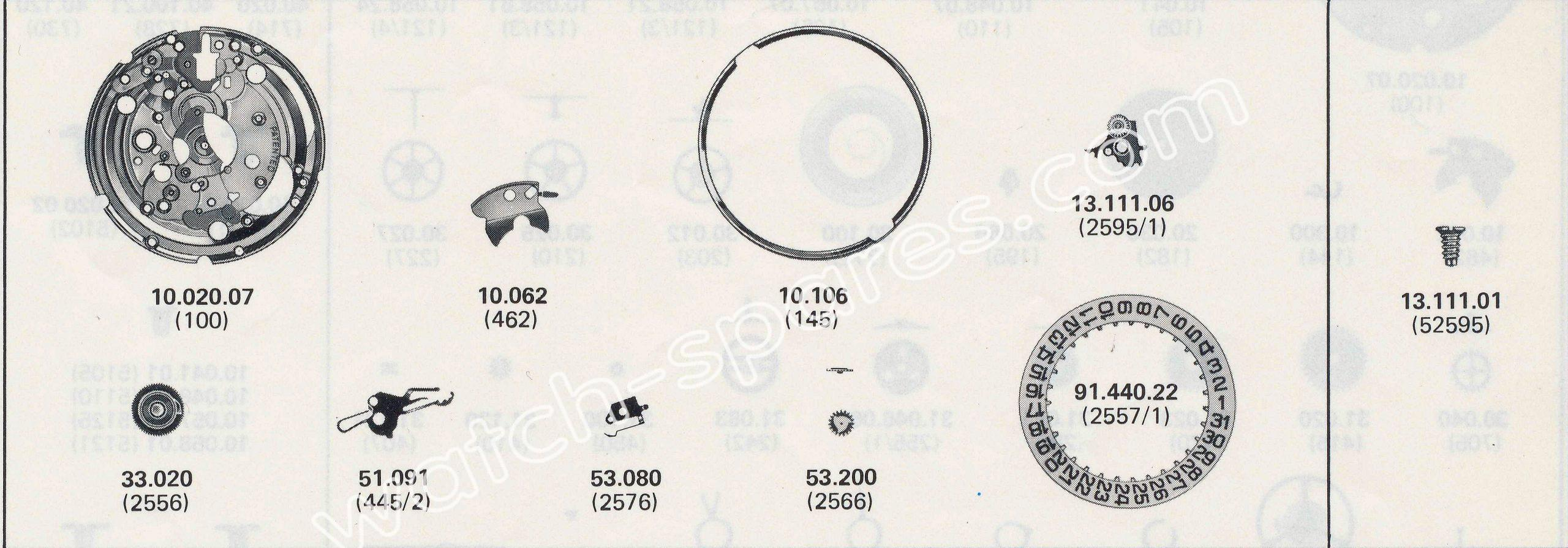 ETA 2824.1 watch date spare parts