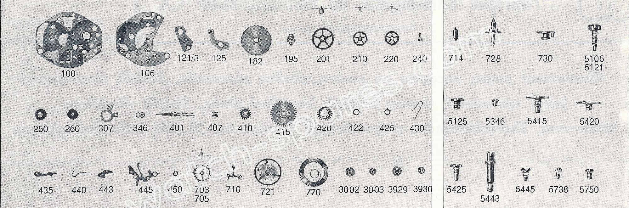 FHF ST 691 watch spare parts