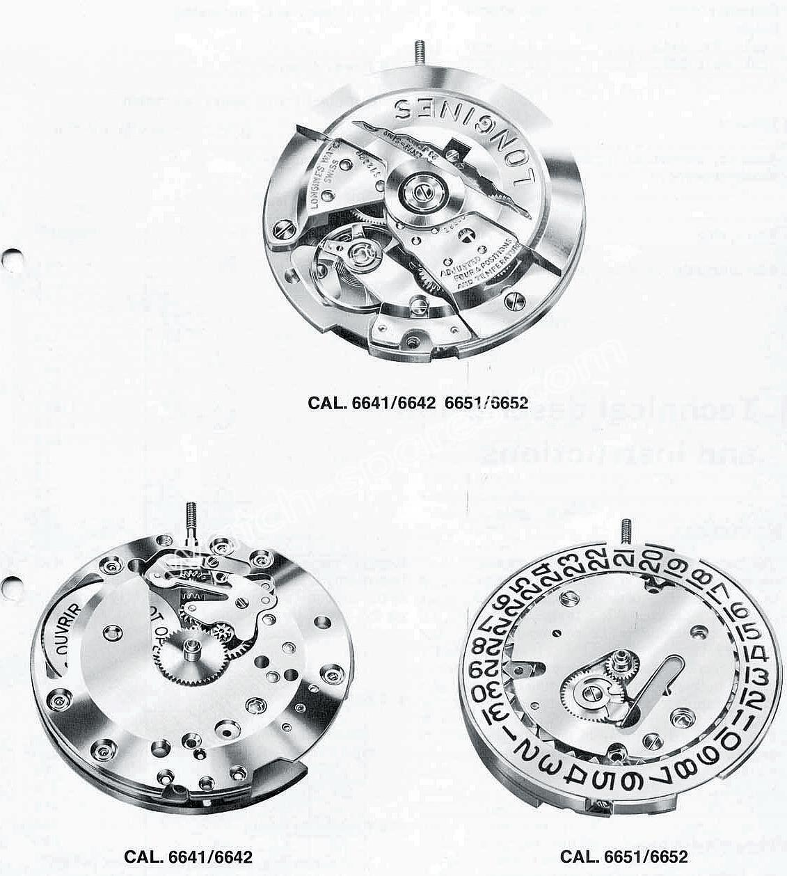 Longines 6641 watch movements