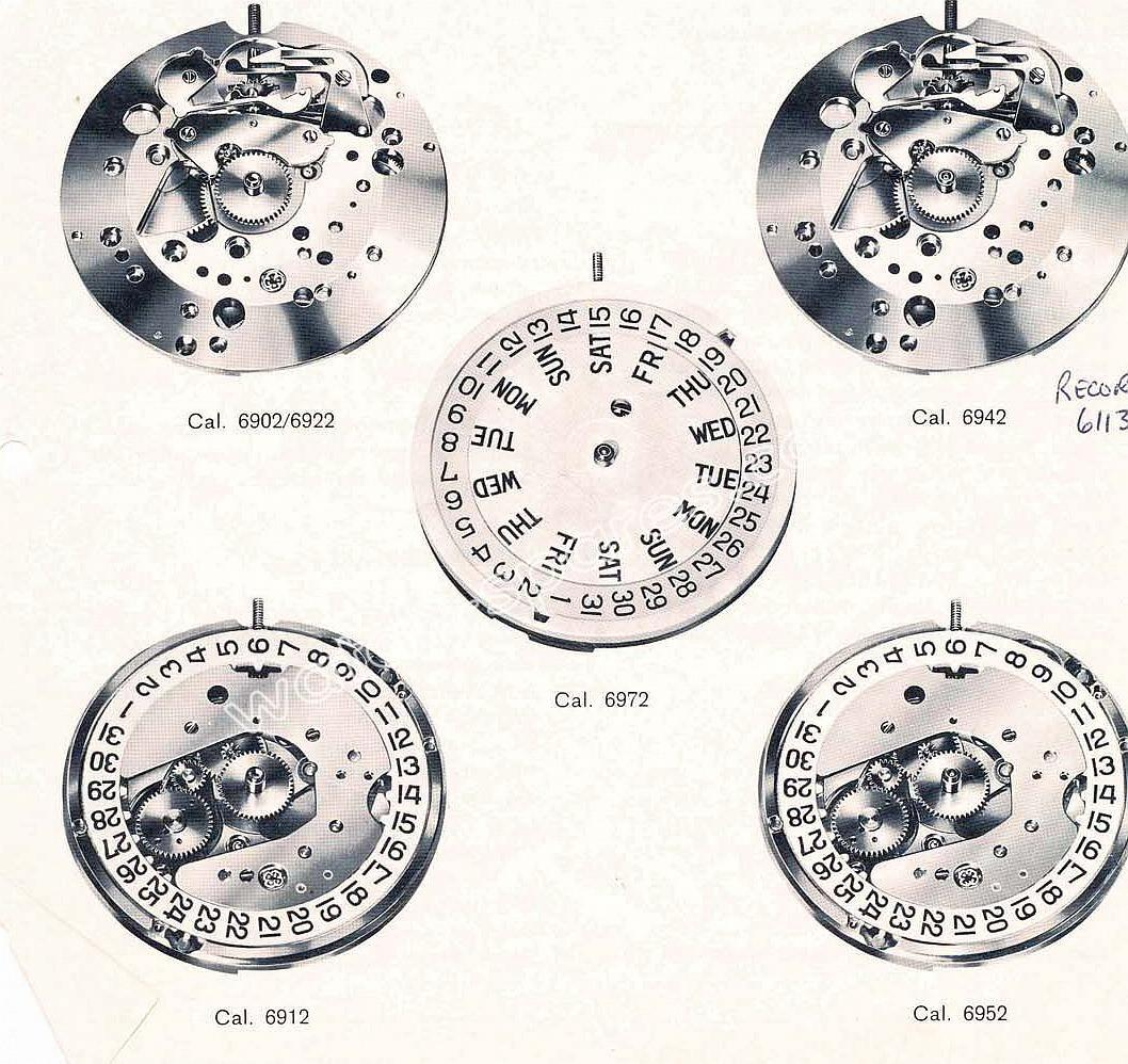 Longines 6972 watch movements