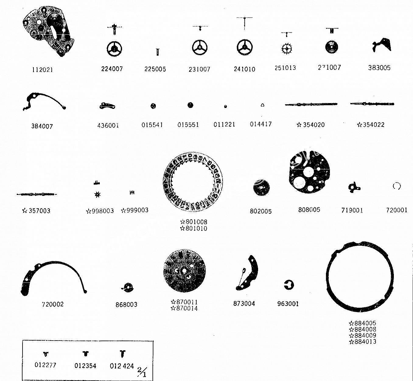 SEIKO 7019A watch spare parts